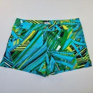 Cache Shorts Size 6 Palm Leaf Tropical